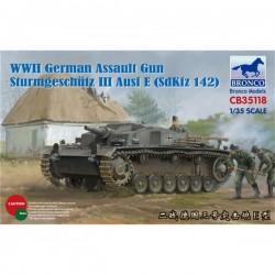 Bronco Models CB35118 Сборная модель САУ Sturmgeschtz III Ausf E (SdKfz 142) (1:35)