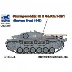 Bronco Models CB35119 Сборная модель САУ Sturmgeschutz III Ausf E SdKfz 142/1 Eastern Front 1942 (1:35)