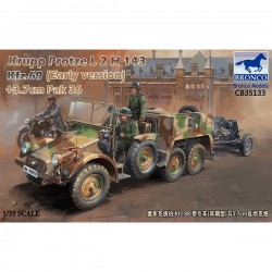 Bronco Models CB35133 Сборная модель Krupp Protze L2 H 143 Kfz.69 (early version) with 3.7cm Pak 36 (1:35)