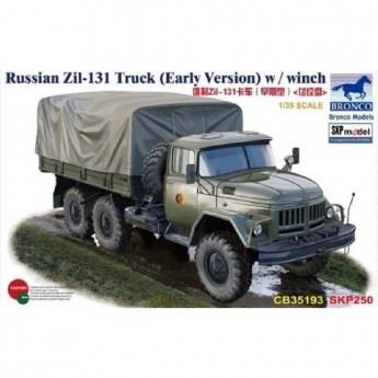Bronco Models CB35193 Сборная модель автомобиля ZIL-131 Truck (Early Version) w/winch (1:35)