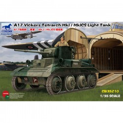 Bronco Models CB35210 Сборная модель танка A17 Vickers Tetrarch Mk.I/MkICS Light Tank (1:35)