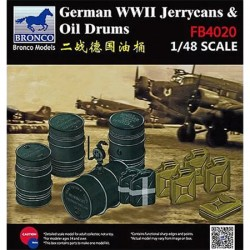 Bronco Models FB4020 Аксессуары German WWII Jerrycans & Oil Drums (1:48)