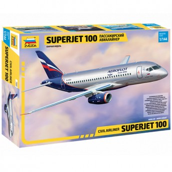 Модель самолета Суперджет 100 (1:144)
