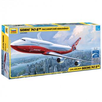 Модель самолета Boeing 747-800 (1:144)