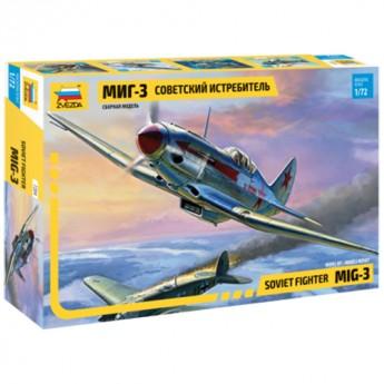 Звезда 7204 Сборная модель самолета МиГ-3 (1:72)