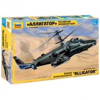 """Звезда 7224 Сборная модель вертолета Ка-52 """"Аллигатор"""" (1:72)"""