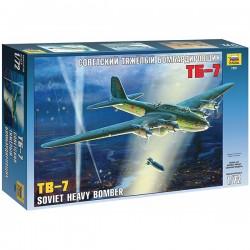 Звезда 7291 Сборная модель самолета ТБ-7 (1:72)