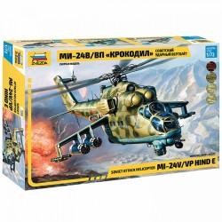 """Звезда 7293 Сборная модель вертолета Ми-24 В/ВП """"Крокодил"""" (1:72)"""