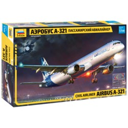 Звезда 7017 Сборная модель самолета Аэробус А-321 (1:144)