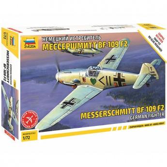 Звезда 7302 Сборная модель самолёта Messerschmitt Bf.109 F-2 (1:72)