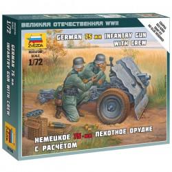 Звезда 6156 Сборная модель немецкой пушки 75 мм (1:72)