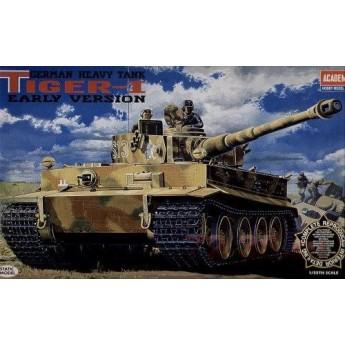 Academy 13239 Сборная модель танка Pz.Kpfw.VI Tiger I ранний с интерьером (1:35)