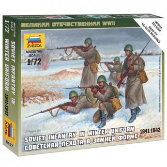 Звезда 6197 Фигурки солдат советской пехоты в зимней форме (1:72)