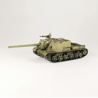 BroneMir br102 Готовая модель танка ИСУ-122 (1:72)