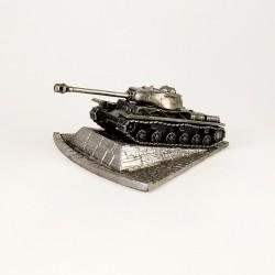 HeavyMetal.Toys Модель танка КВ-1С из металла с подставкой (1:100)