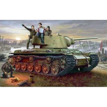 Модель танка КВ-1, модель 1942 г. с легкой башней (1:35)