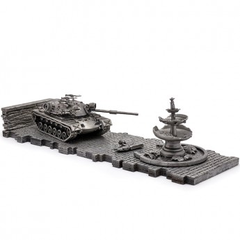 HeavyMetal.Toys Модель танка M48A5 PATTON из металла с подставкой (1:72)