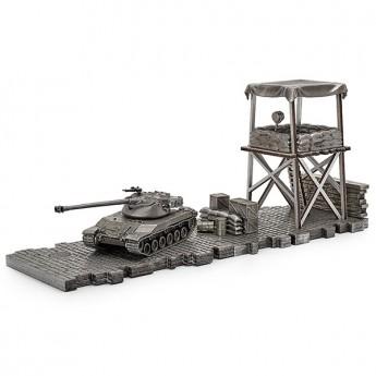 HeavyMetal.Toys Модель танка BAT.-CHÂTILLON 25 T из металла с подставкой (1:72)