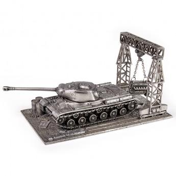 HeavyMetal.Toys Модель танка ИС-2 из металла с подставкой (1:72)