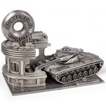 HeavyMetal.Toys Модель танка T 57 Heavy Tank из металла с подставкой (1:72)