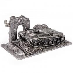 HeavyMetal.Toys Модель танка КВ-1С из металла с подставкой (1:72)