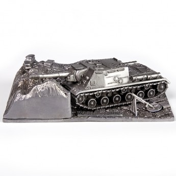 HeavyMetal.Toys Модель танка ИСУ-152 из металла с подставкой (1:72)