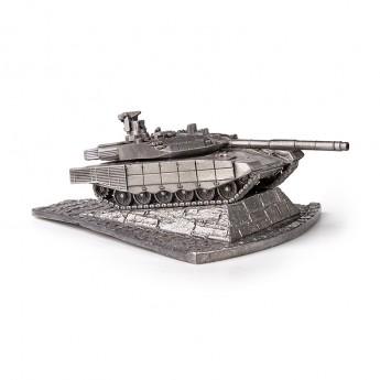 HeavyMetal.Toys Модель танка Т-90 МС из металла с подставкой (1:100)