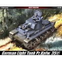 Academy 13280 Сборная модель немецкого легкого танка Pz.Kpfw. 35(t) (1:35)