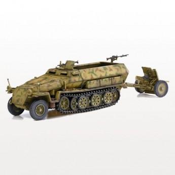 Dragon Armor 60637 Готовая модель бронетранспортера Sd.Kfz.251 Ausf.C & 3.7cm (1:72)
