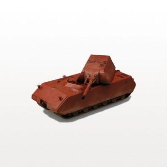 """Модель танка Maus (Маус) в окраске """"красный грунт""""."""