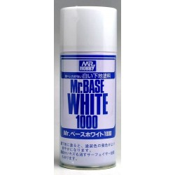 Краска-грунтовка в баллончиках Mr.BASE WHITE 1000 180мл
