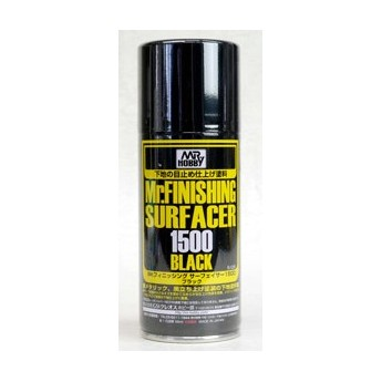 Краска-грунтовка в баллончиках Mr.FINISHING SURFACER 1500 BLACK 170мл