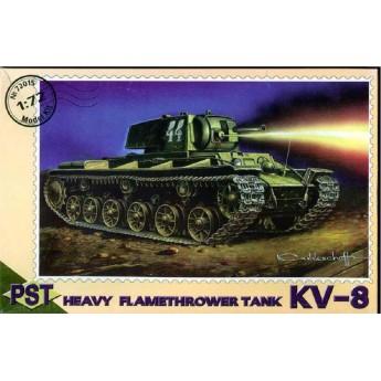 PST 72015 Сборная модель тяжелого огнеметного танка КВ-8 (1:72)