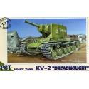 """PST 72017 Сборная модель тяжелого танка КВ-2 """"Дредноут"""" (1:72)"""