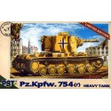 PST 72037 Сборная модель Pz. Kpfw. 754(r) Heavy Tank (1:72)
