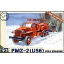 PST 72049 Сборная модель ПМЗ-2 пожарная машина на базе Studebaker US6 (1:72)