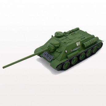 Soviet Armour SA343 Готовая модель танка СУ-100 (1:72)